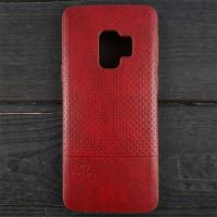 Кожаный чехол накладка LUO Case для Samsung Galaxy S8 Plus, красный