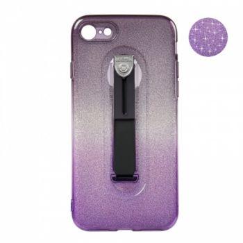 Накладка градиент Glitter Hold черно-фиолетовый оттенок для iPhone 7