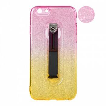 Накладка градиент Glitter Hold от Remax для iPhone 5 желтый/розовый