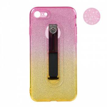 Чехол желто-розовый градиент Glitter Hold от Remax для iPhone 8