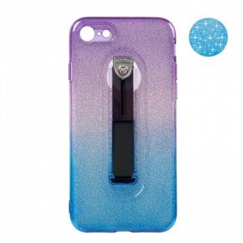 Накладка синий и фиолетовый градиент Glitter Hold от Remax для iPhone 8
