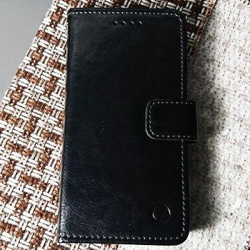 Кожаный чехол книжка Kangaroo от Jitnik для iPhone 7 Plus, черный