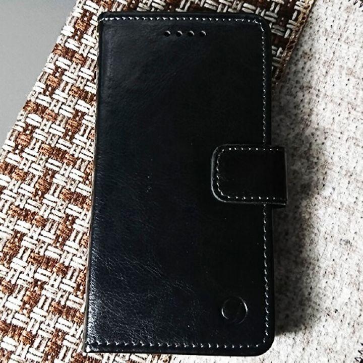 Кожаный чехол книжка Kangaroo от Jitnik для iPhone 8 Plus, черный