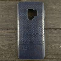Кожаный чехол накладка LUO Case для Samsung Galaxy S8 Plus, синий