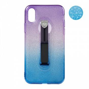Накладка синий и фиолетовый градиент Glitter Hold от Remax для iPhone Xs