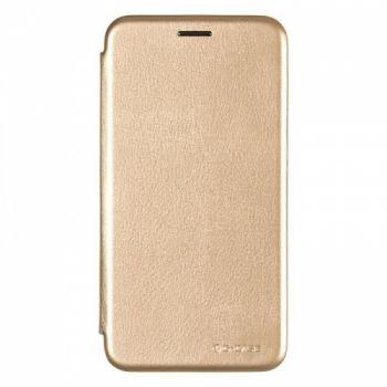 Чехол книжка из кожи G-Case Ranger для Samsung J510 (J5-2016) золотой