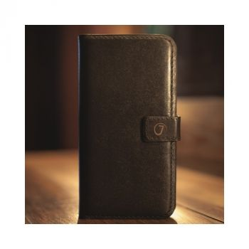 Кожаный чехол книжка Klassika от Jitnik для iPhone 8, коричневый