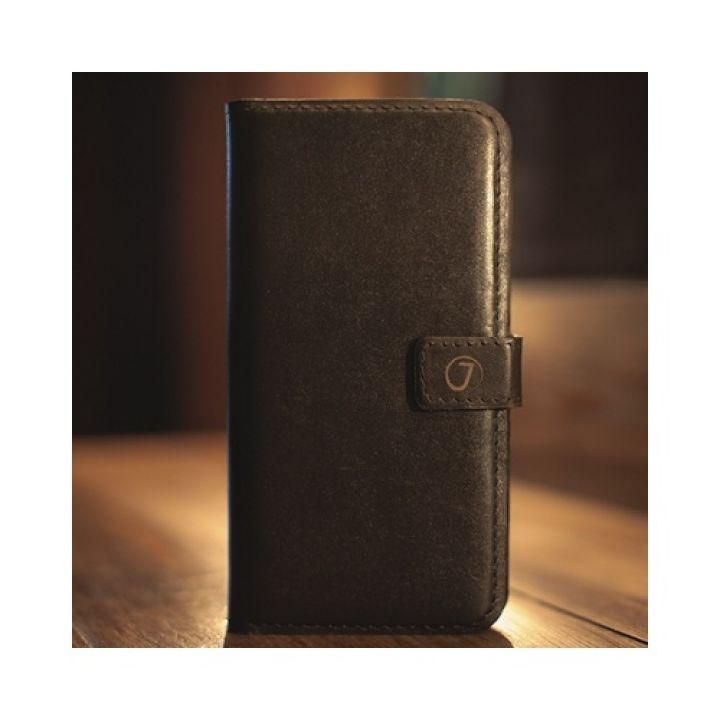 Кожаный чехол книжка Klassika от Jitnik для iPhone X (10), коричневый со скидкой 50%