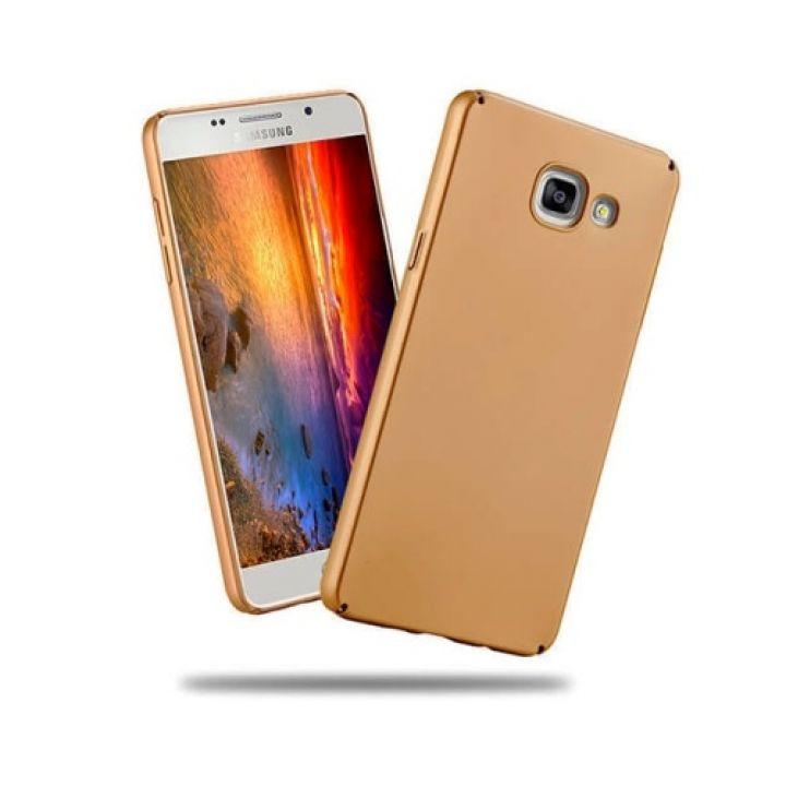 Ультратонкий чехол бампер Silk Touch для Samsung Galaxy A5 2016 gold