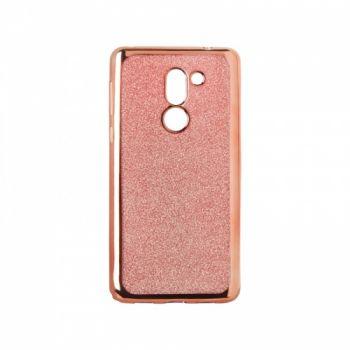 Чехол с блесками Glitter Silicon от Remax для Huawei P20 Lite розовый