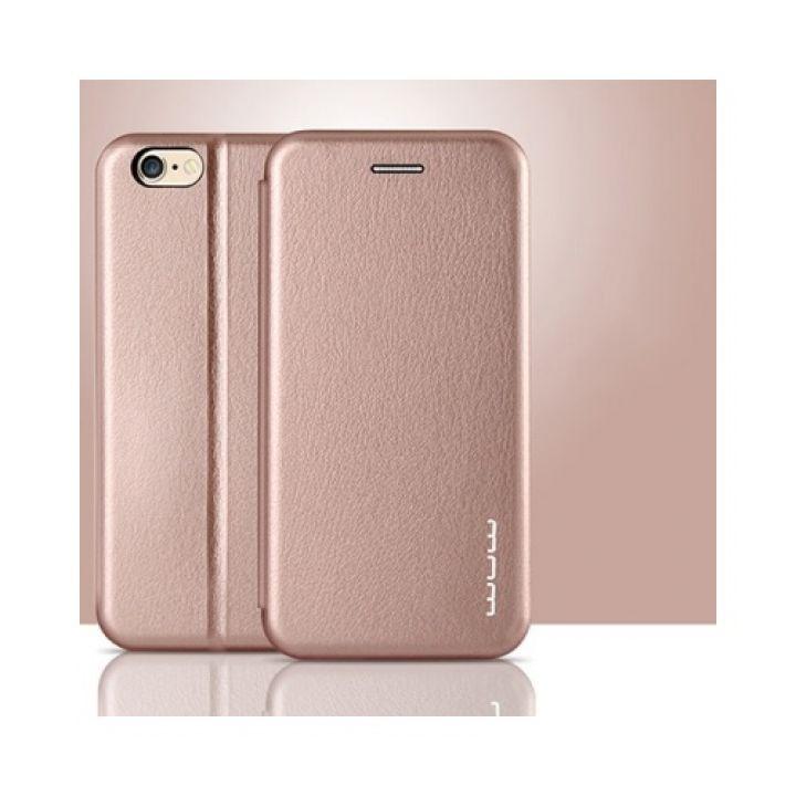 Яркий кожаный чехол книжка Luxor для iPhone 6/6s rose