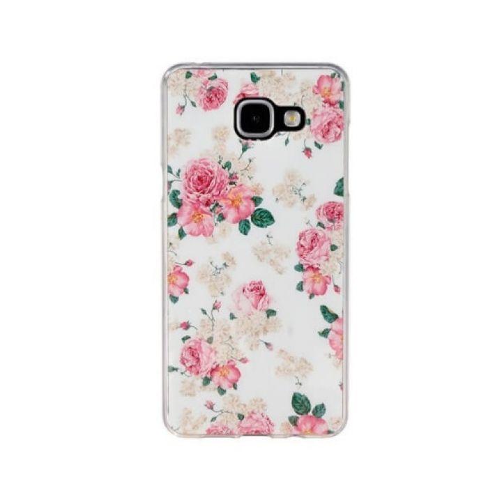 Красивый чехол накладка Flowers для Samsung Galaxy A3 2016