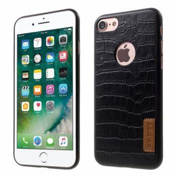Силиконовая накладка с тканью Crocodile Pattern от G-Case для iPhone 8 черный