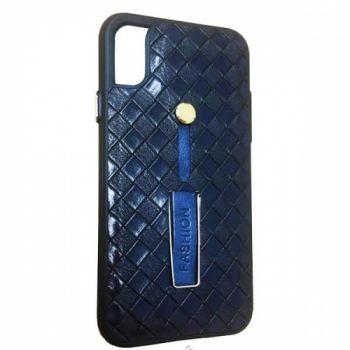 Кожаный чехол накладка с подставкой Fashion для Samsung Galaxy S8 синий