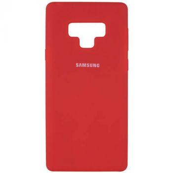 Оригинальный чехол накладка Soft Case для Samsung Note 9 красный