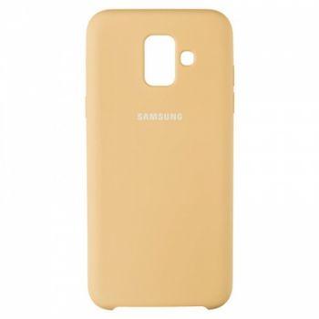 Оригинальный чехол накладка Soft Case для Samsung A600 (A6-2018) золотой