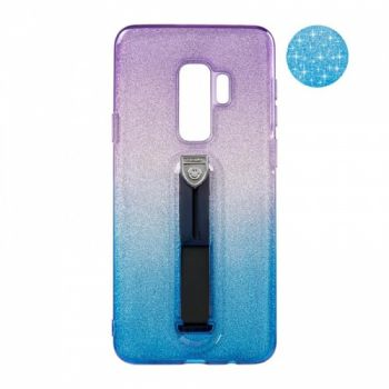 Накладка градиент Glitter Hold от Remax для Samsung S7 Edge синий/фиолетовый
