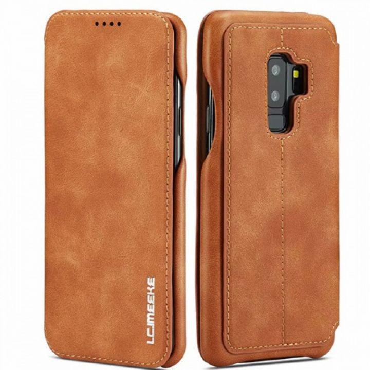 Чехол флип оригинальный коричневый Lucky для Samsung Galaxy S9 Plus