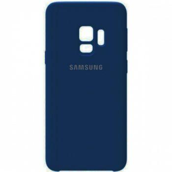 Оригинальный чехол накладка Soft Case для Samsung S9 Plus темно-синий