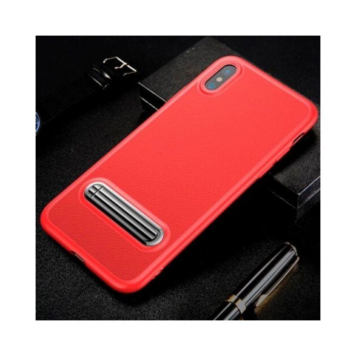 Красный силиконовый чехол накладка Salient для iPhone X