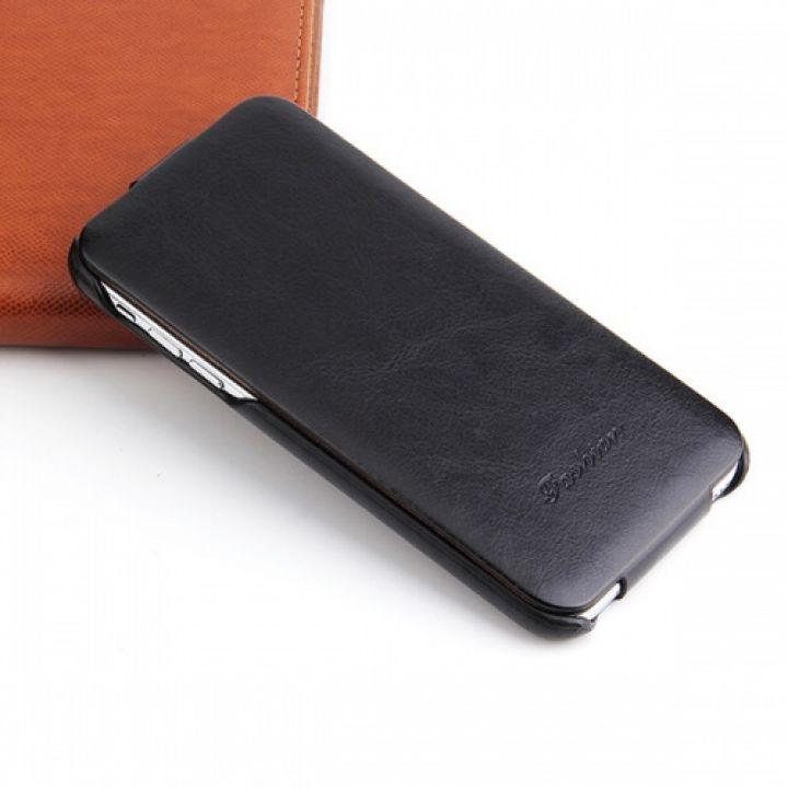 Кожаный чехол флип Luxury Case для iPhone 7 black