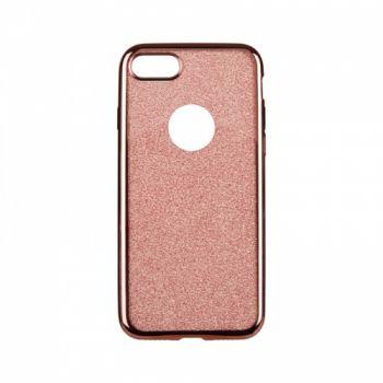 Чехол с блесками Glitter Silicon от Remax для iPhone 4 розовый