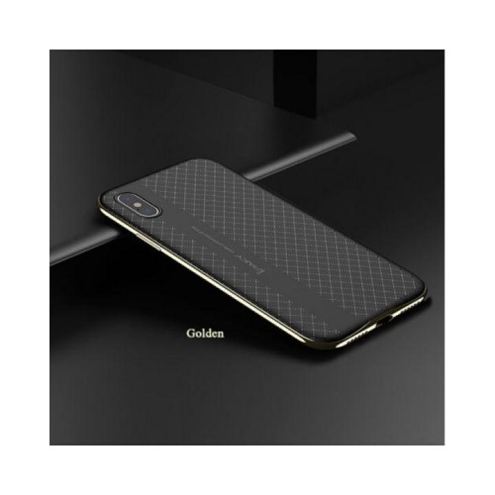 Чехол пенал с золотым бампером Defense для iPhone X