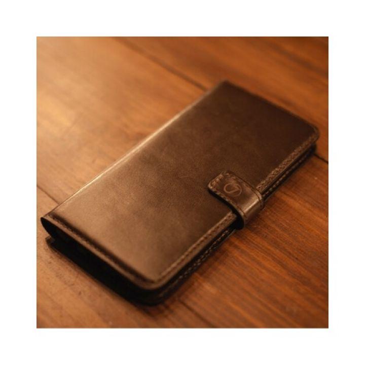 Кожаный чехол книжка Klassika от Jitnik для Samsung Galaxy S8 plus, коричневый