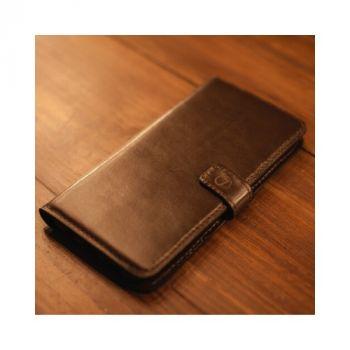 Кожаный чехол книжка Klassika от Jitnik для Samsung Galaxy S8, коричневый