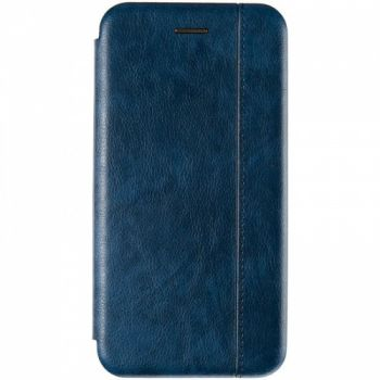 Кожаная книжка Cover Leather от Gelius для Huawei P Smart (2019) синяя