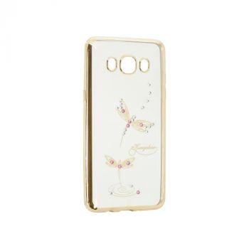 Прозрачный чехол с рисунком и камешками для Huawei Y5 II Dragonfly
