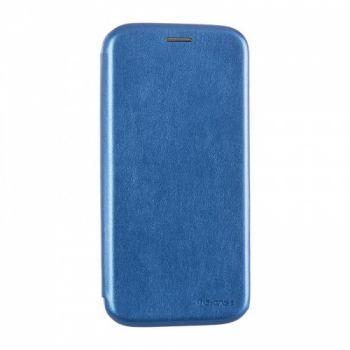 Чехол книжка из кожи G-Case Ranger для Huawei Y5 (2019) синяя