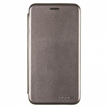 Чехол книжка из кожи G-Case Ranger для Samsung M305 (M30) серая