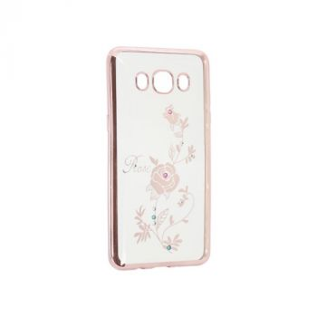 Прозрачный чехол с рисунком и камешками для Meizu M5 Note Rose