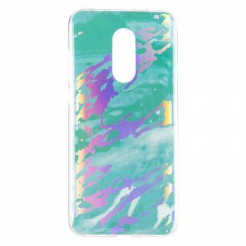 Мраморный чехол с красками для Samsung J810 (J8-2018) Mint