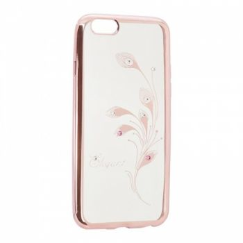Прозрачный чехол с рисунком и камешками для iPhone 6 Elegant