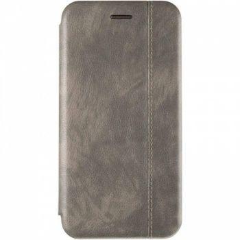 Кожаная книжка Cover Leather от Gelius для Xiaomi Redmi Note 7 Pro серая
