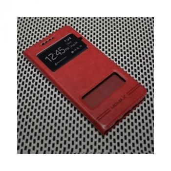 Яркий кожаный чехол книжка Perfect для Samsung Galaxy A7 2016 red