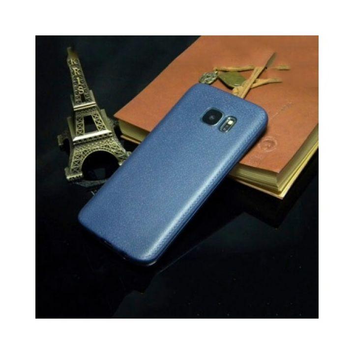 Чехол-накладка Imitation для Samsung Galaxy S7 Edge blue
