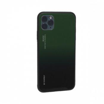 Защитный чехол Gradient Glass для iPhone 11 Pro Max зеленый
