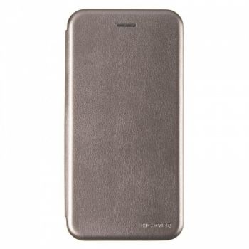 Чехол книжка из кожи Ranger от G-Case для Huawei Y7 Prime (2018) серый