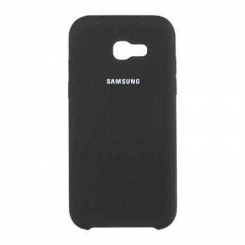 Оригинальный чехол накладка Soft Case для Samsung A520 (A5-2017) черный