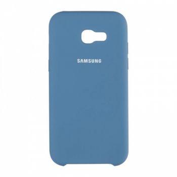 Оригинальный чехол накладка Soft Case для Samsung A520 (A5-2017) темно-синий