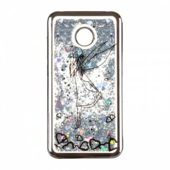 Чехол 3D с жидкостью и блестками Beckberg Aqua для Huawei Y7 Prime Fairy черный