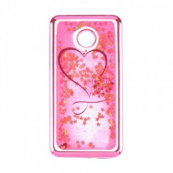 Чехол 3D с жидкостью и блестками Beckberg Aqua для Huawei Y7 Prime Hearts розовый