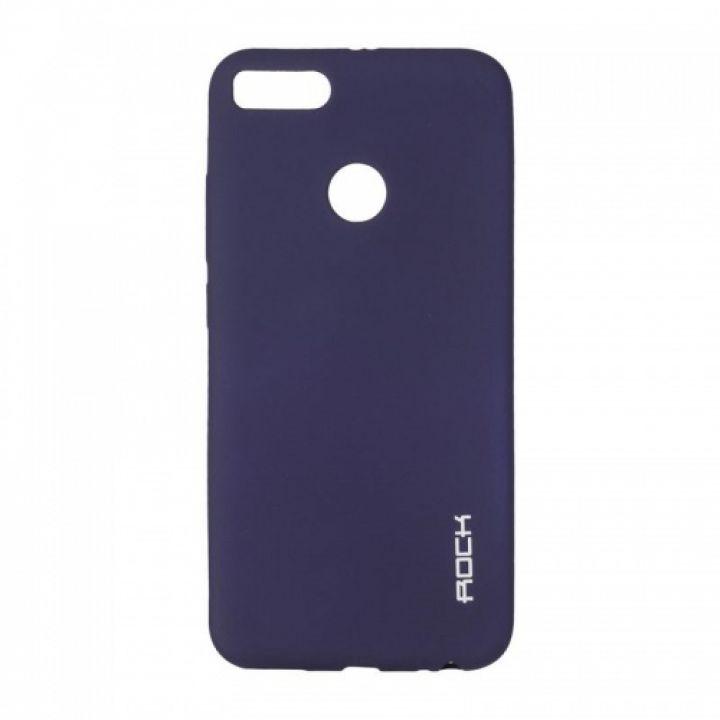 Плотный силиконовый чехол Matte от Rock для Xiaomi Redmi 5 Plus синий