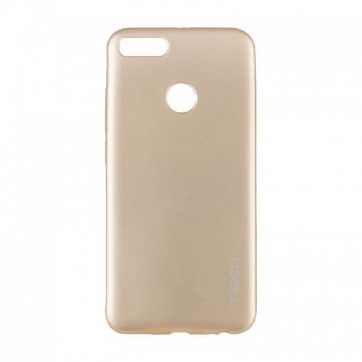 Плотный силиконовый чехол Matte от Rock для Xiaomi Redmi 5 Plus золото