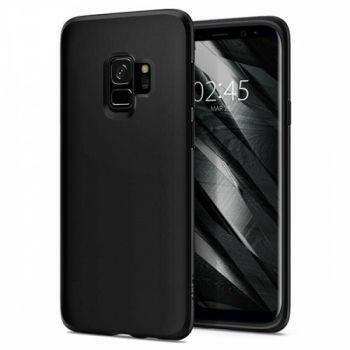 Оригинальная силиконовая накладка для Samsung S9 черный