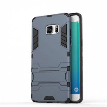 Пластиковый ударопрочный чехол накладка для Samsung S7 Edge серый
