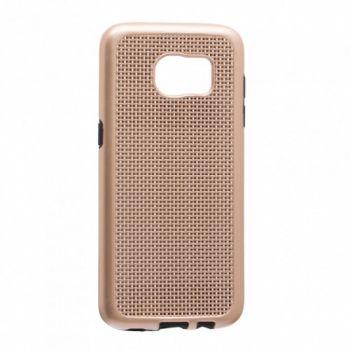 Модная золотая накладка от GINZZU для Samsung Galaxy S7 edge